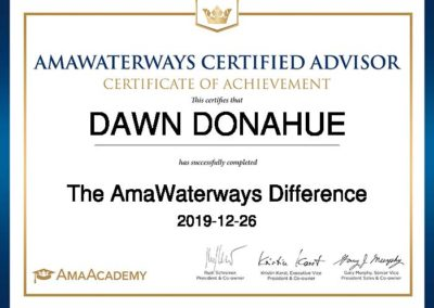 DAWN-DONAHUE-The AmaWaterways Difference-Certificate